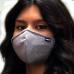 IShield tekFABRIK  Small Square Mask || Space Grey Color